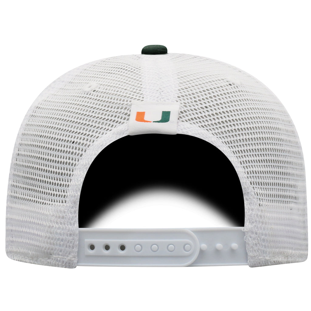 Miami Hurricanes Top of the World BB Adjustable -Green/White