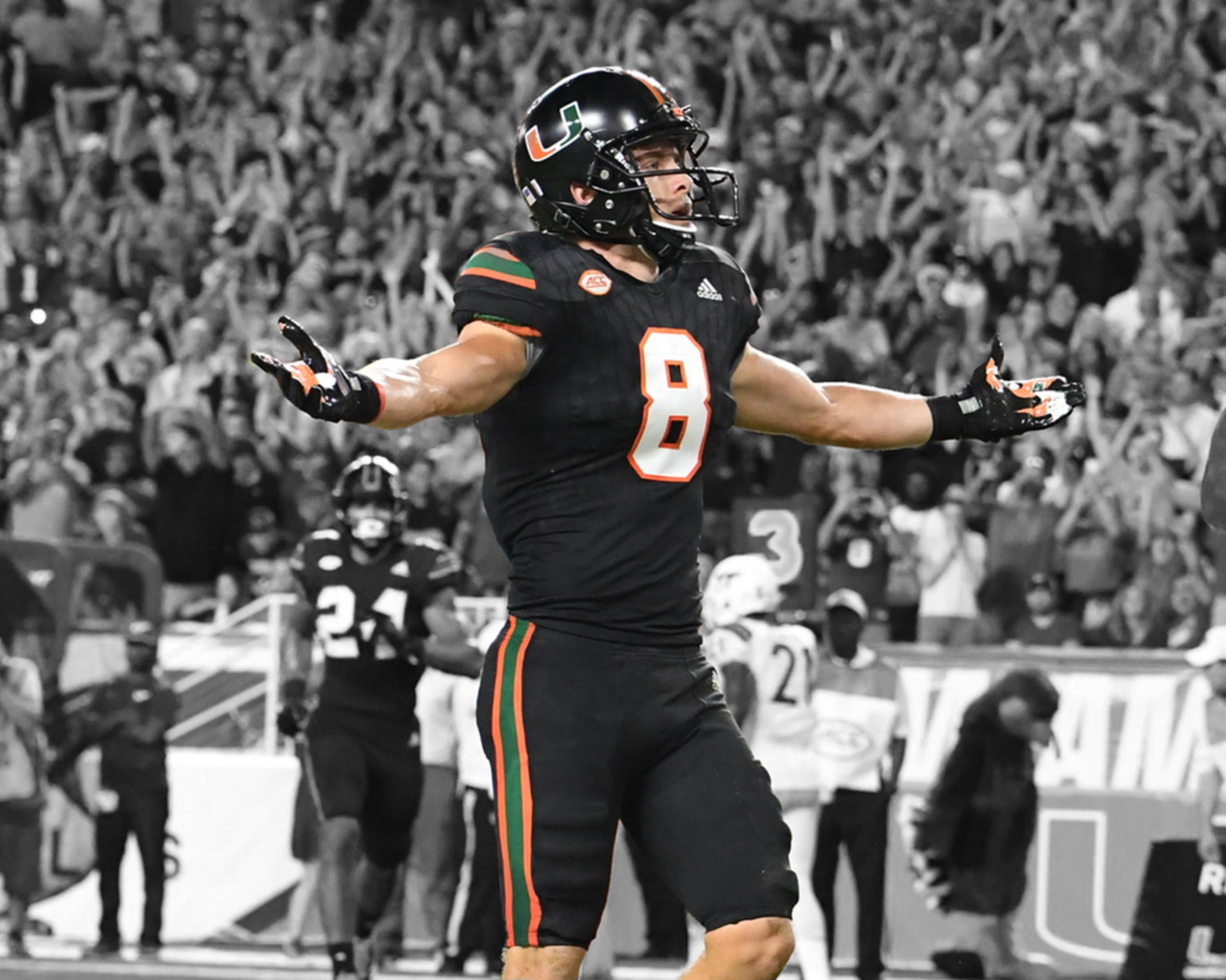 release date: 2b994 f0d54 Braxton Berrios Signed Photo - BnW Miami Nights