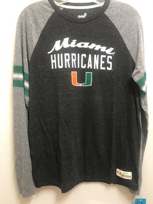 Miami Hurricanes Youth L\S Raglan T-Shirt
