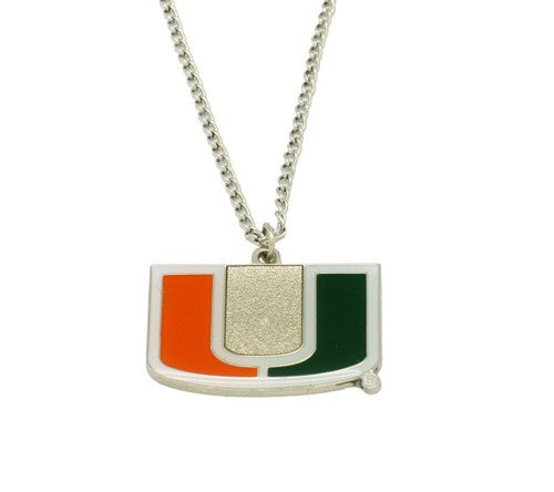 Miami Hurricanes Logo Pendant Necklace - CanesWear at Miami FanWear Jewelry Aminco CanesWear at Miami FanWear