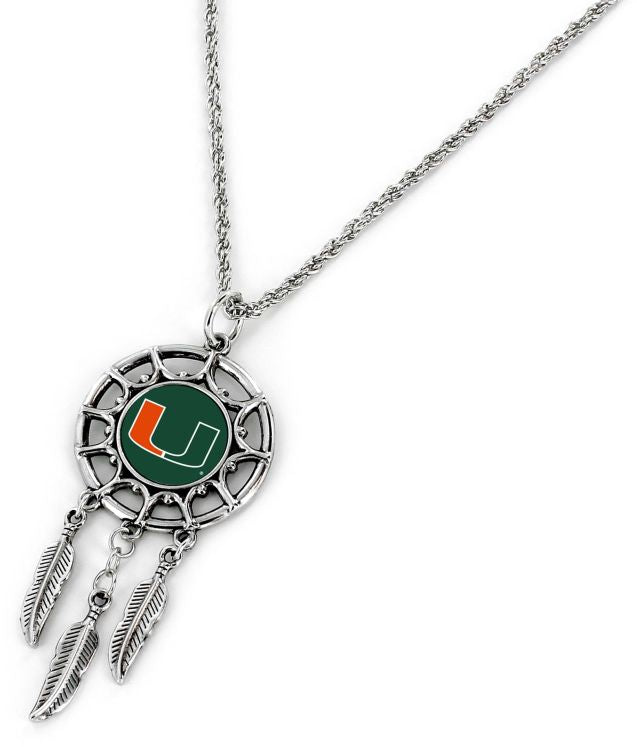 Miami Hurricanes Dream Catcher Pendant