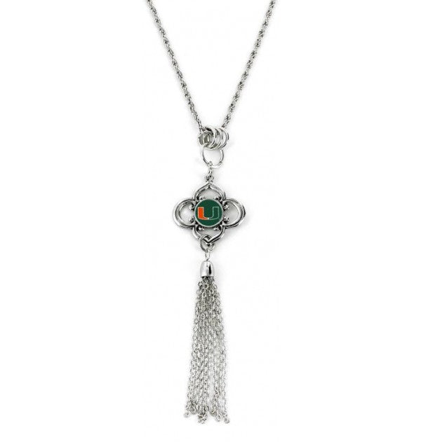 Miami Hurricanes Miami Charmed Tassel Necklace