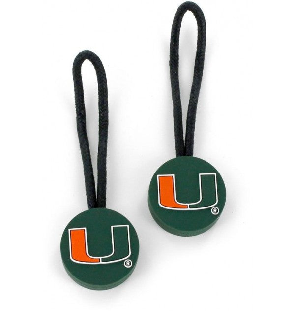 Miami Hurricanes Miami Zipper Pull - 2 Pack