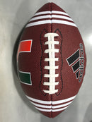 Miami Hurricanes adidas 3-Stripe University Football with U