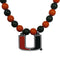 Miami Hurricanes Fan Bead Necklace