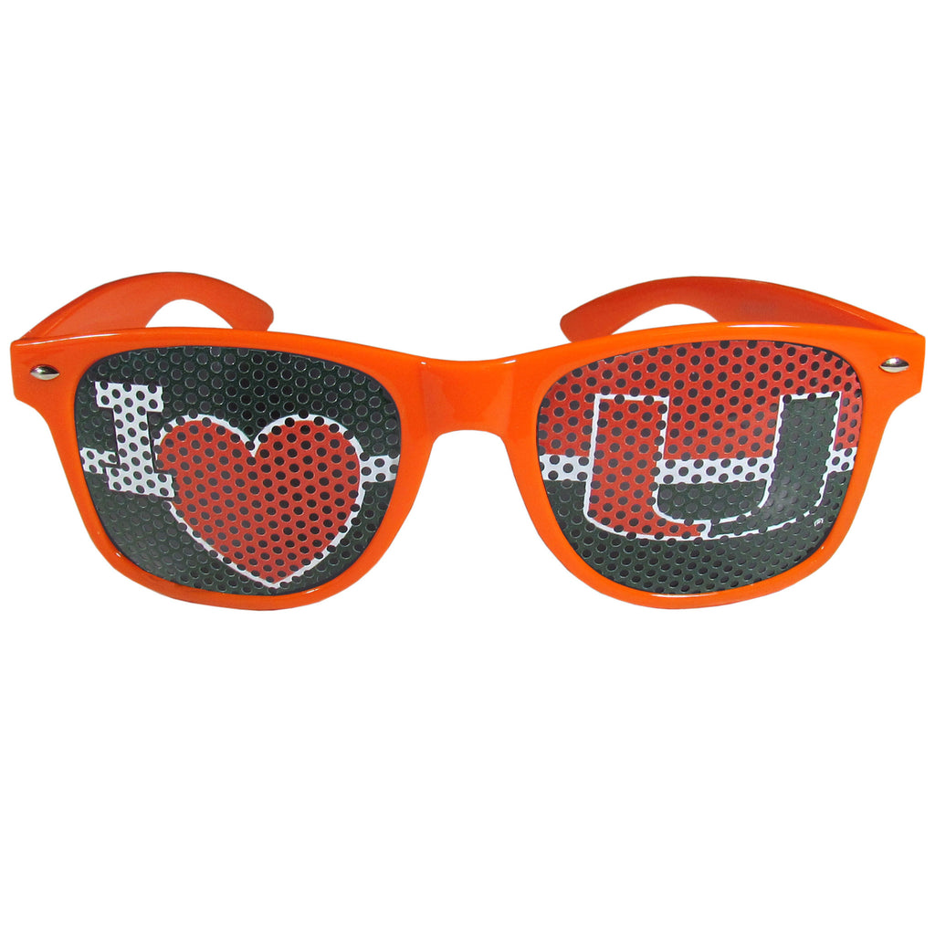 Miami Hurricanes I Heart Game Day Shades Sunglasses - CanesWear at Miami FanWear Sunglasses Siskiyou CanesWear at Miami FanWear