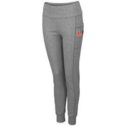 Miami Hurricanes WOMEN'S TYPE A LEGGINGS - Heather Grey