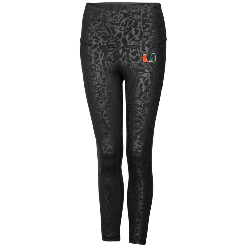 Miami Hurricanes Women's Chasse Leggings - Black