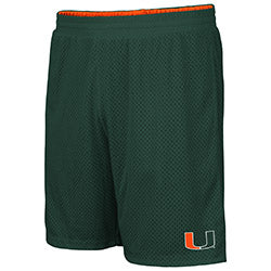 Miami Hurricanes 2019 MEN'S WIGGUM REVERSIBLE SHORT - Green/Orange