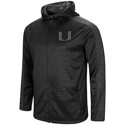 Miami Hurricanes MENS THE SEARCH CONTINUES BLACKOUT F-Z HOODIE