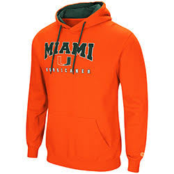 Miami Hurricanes MENS PLAYBOOK PULLOVER HOODIE - Orange
