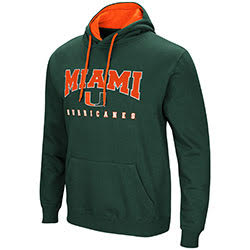 Miami Hurricanes MENS PLAYBOOK PULLOVER HOODIE - GREEN
