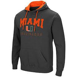 Miami Hurricanes MENS PLAYBOOK PULLOVER HOODIE - CHARCOAL