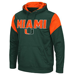 Miami Hurricanes Colosseum Mens Wonder Marbled Pullover Hoodie - Green