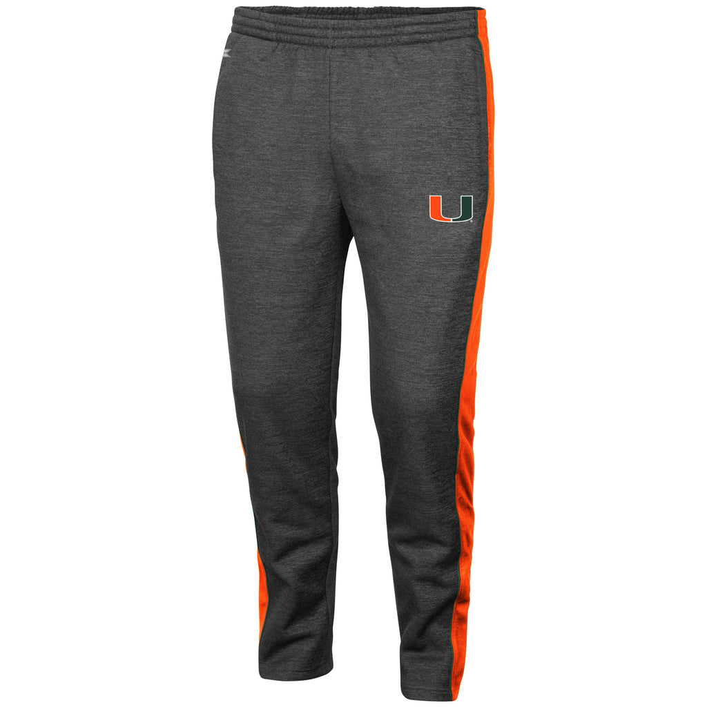 Miami Hurricanes Men's Luge Fleece Pants - Heather Gray