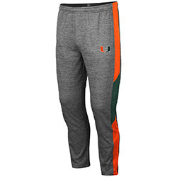 Miami Hurricanes 2019 MEN'S BART PANT - Heather Grey
