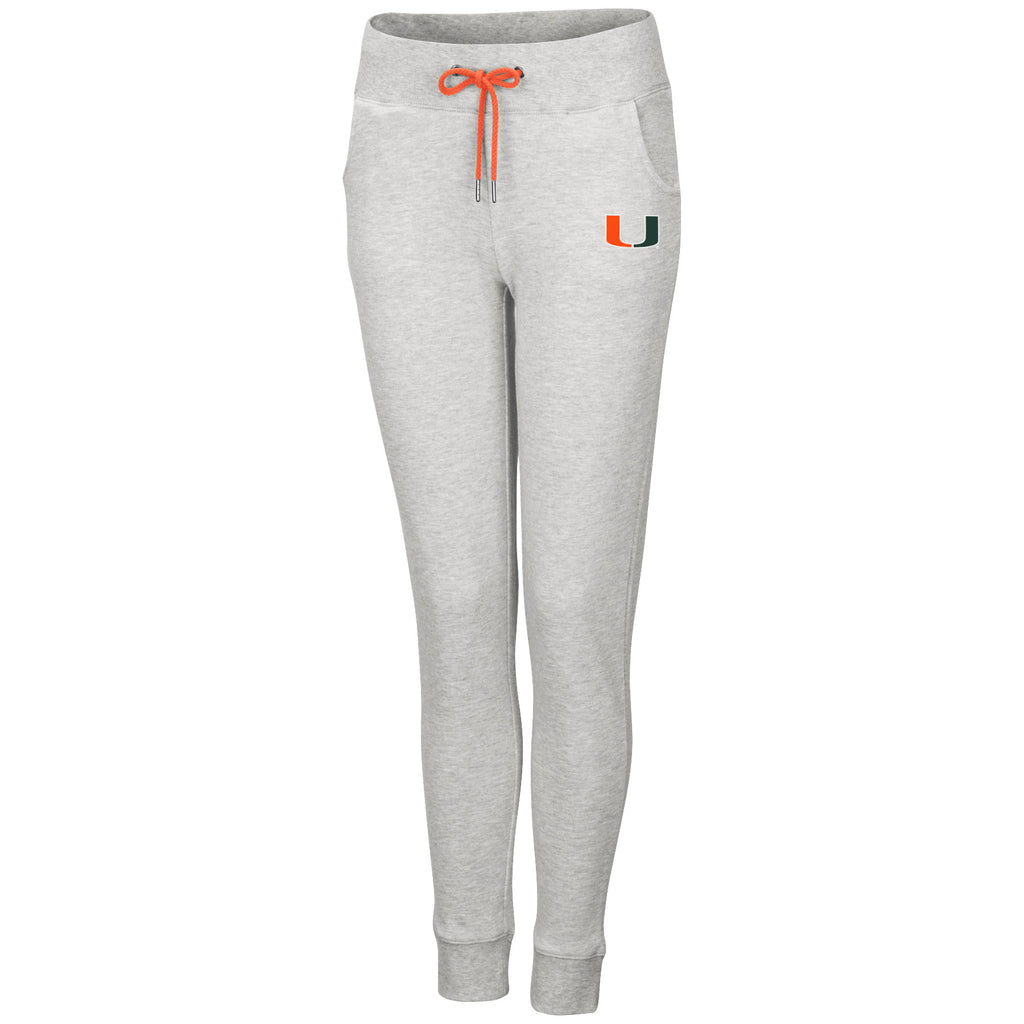 Miami Hurricanes Women's Speed Check Jogger Pants - Heather Grey