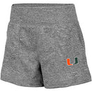 Miami Hurricanes WOMEN'S LYON SHORTS - Heather Grey