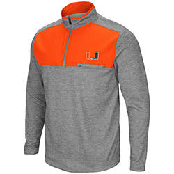 Miami Hurricanes MEN's ALLIGATORS ARE ORNERY 1/4 ZIP FLEECE