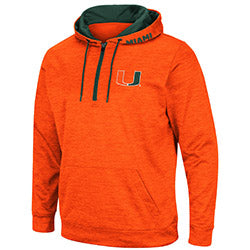 Miami Hurricanes Colosseum Mens Wonder Marbled 1/4 Zip Pullover - Orange