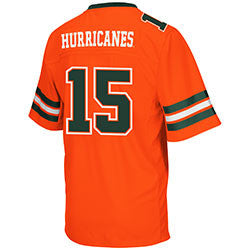 Miami Hurricanes Spike It Football Jersey - Youth - CanesWear at Miami FanWear Miami not tracked CanesWear at Miami FanWear