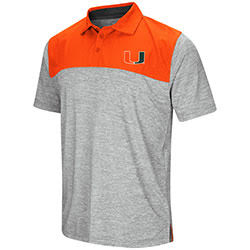 Miami Hurricanes MENS ALASKA WOVEN S/S POLO