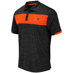 Miami Hurricanes 2019 MEN'S NELSON POLO - Black/Charcoal