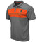 Miami Hurricanes MEN'S SMITHERS POLO - Heather Charcoal