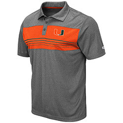Miami Hurricanes 2019 MEN'S SMITHERS POLO - Heather Charcoal