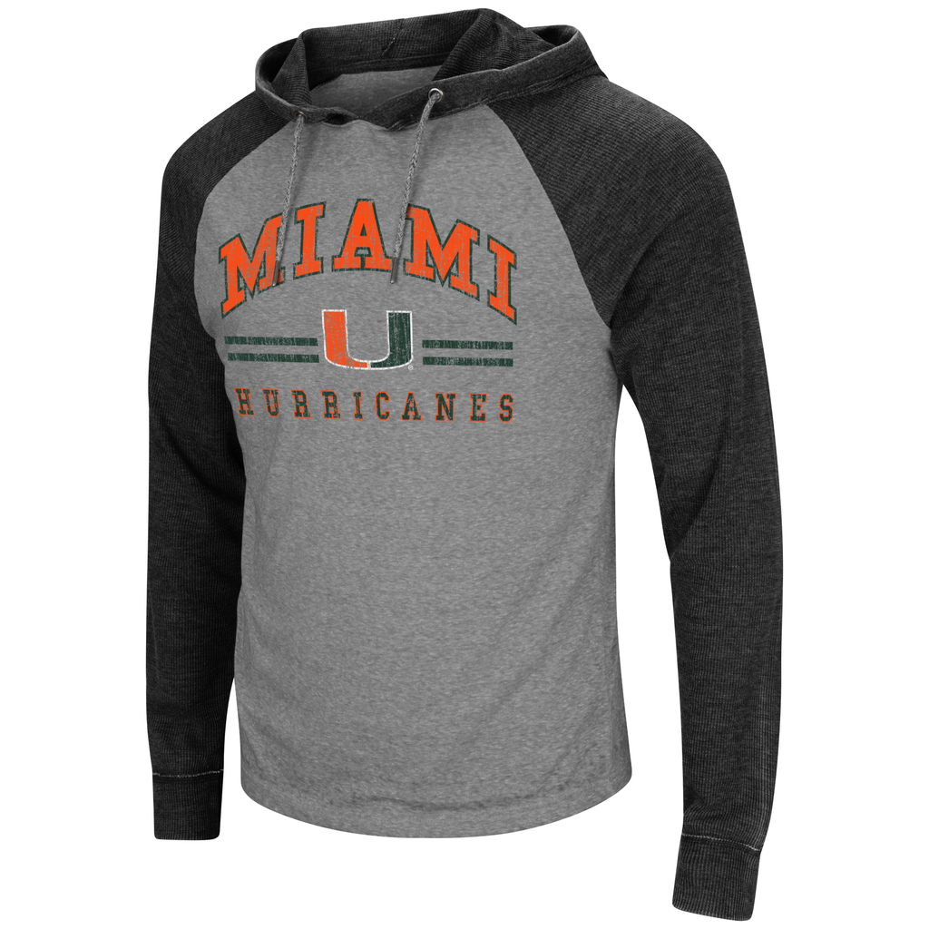 0c8bb7d933 Miami Hurricanes Colosseum Men's Personal Flair Hooded L/S Tee ...