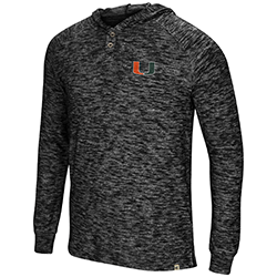 Miami Hurricanes MENS 5 CRAWFISH DINNERS L/S HENLEY TEE