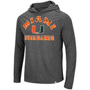 Miami Hurricanes Colosseum Mens Bluth Hooded L/S Hooded T-Shirt - Grey