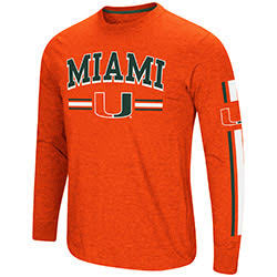 Miami Hurricanes MENS TOUCHDOWN PASS L/S TEE