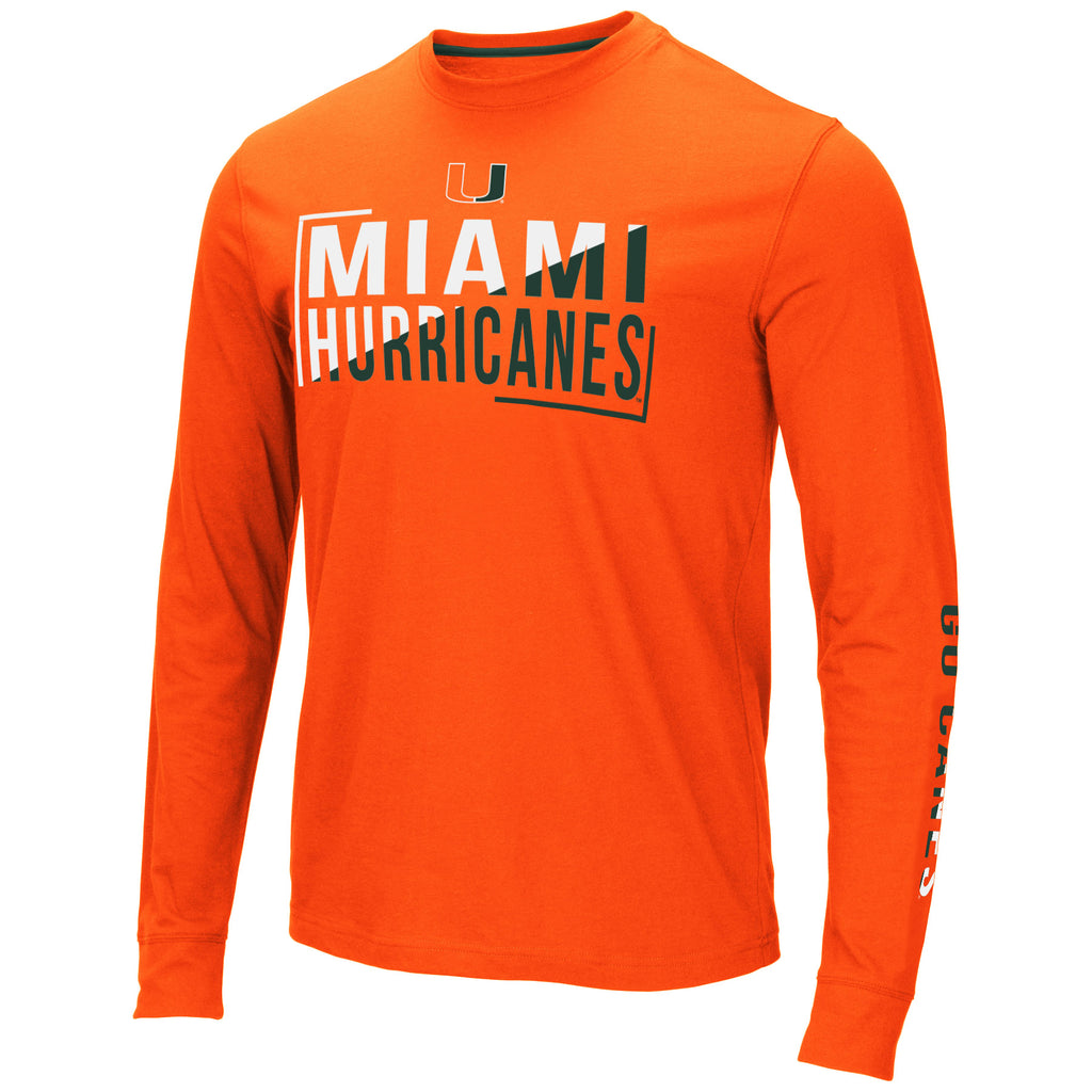 Miami Hurricanes Men's Lutz L/S T-Shirt - Orange