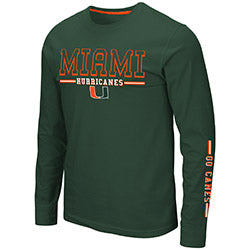 Miami Hurricanes 2019 MEN'S KODOS L/S TEE - GREEN