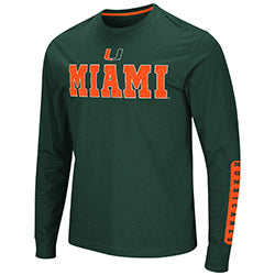 Miami Hurricanes Colosseum Mens Annyong L/S T-Shirt - Green