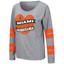 Miami Hurricanes Women's Nellie L/S Tee - Grey