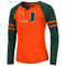 Miami Hurricanes Colosseum Girls Andy L/S T-Shirt - Orange