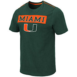Miami Hurricanes 2019 MEN'S SAO PAUL S/S TEE - GREEN