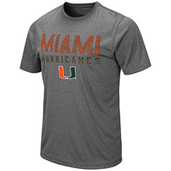 Miami Hurricanes 2019 MEN'S FLANDERS S/S TEE - Heather Charcoal