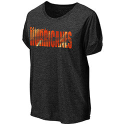 Miami Hurricanes 2019 WOMEN'S ROME CUTOUT TEE - Heather Charcoal