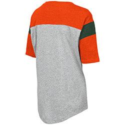Miami Hurricanes 2019 WOMEN'S GENOA S/S TEE - Orange/Heather Grey