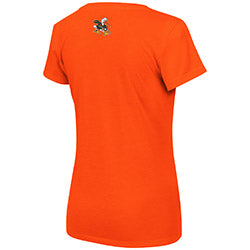 Miami Hurricanes WOMEN'S PARMA V-NECK TEE - ORANGE