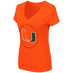 Miami Hurricanes 2019 WOMEN'S PARMA V-NECK TEE - ORANGE