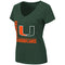 Miami Hurricanes WOMEN'S SALERNO V-NECK TEE - GREEN