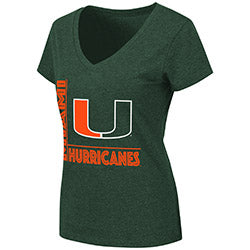 Miami Hurricanes 2019 WOMEN'S SALERNO V-NECK TEE - GREEN