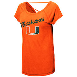 Miami Hurricanes 2019 WOMEN'S BOLD GESTURES S/S TEE - ORANGE