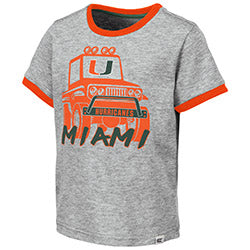 Miami Hurricanes 2019 TODDLER BOY'S MUD FLAP S/S TEE - Heather Grey