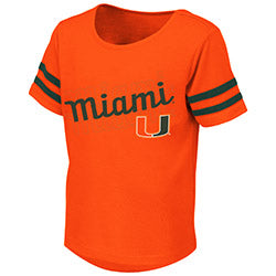 Miami Hurricanes 2019 TODDLER GIRL'S HAMBURG TEE - ORANGE