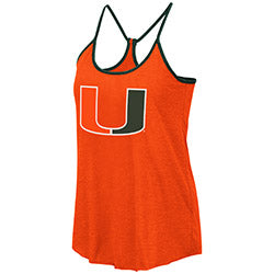 Miami Hurricanes 2019 WOMEN'S VERONA REVERSIBLE TANK - ORANGE